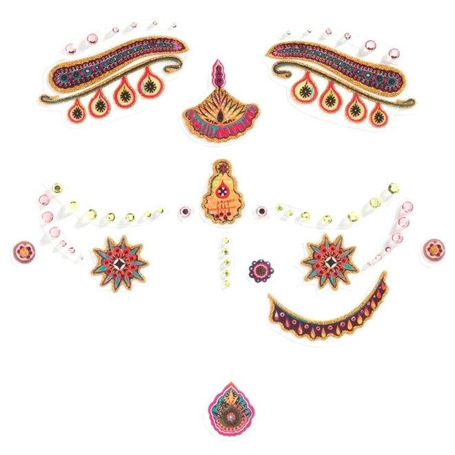 Gezichtsstickers India prinses