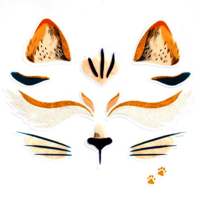 Gezichtsstickers Kat