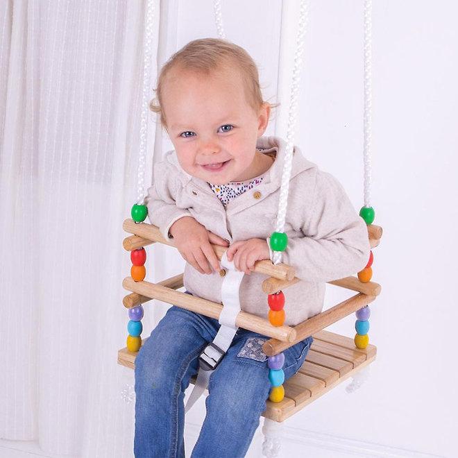 Houten baby / peuter schommel
