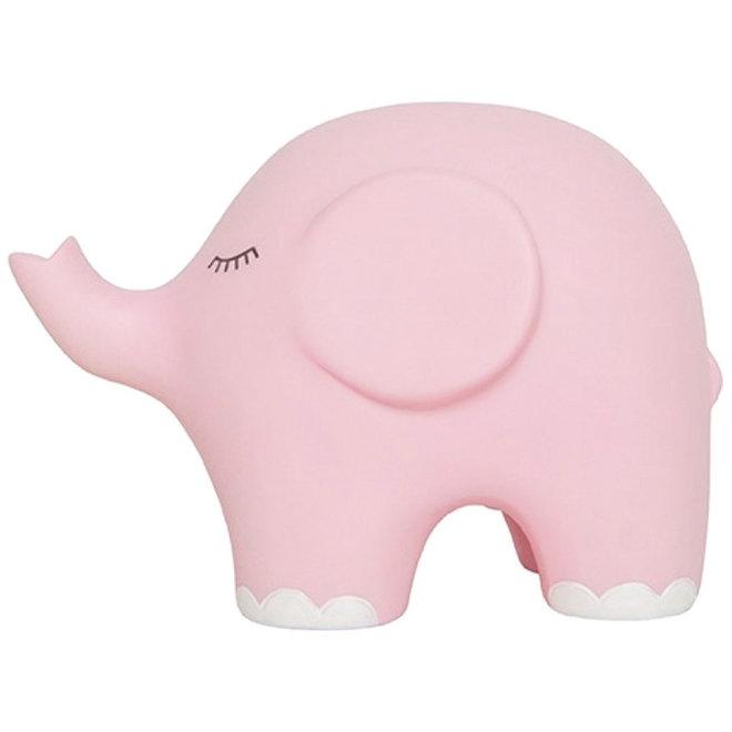 Jabadabado nachtlamp olifant roze