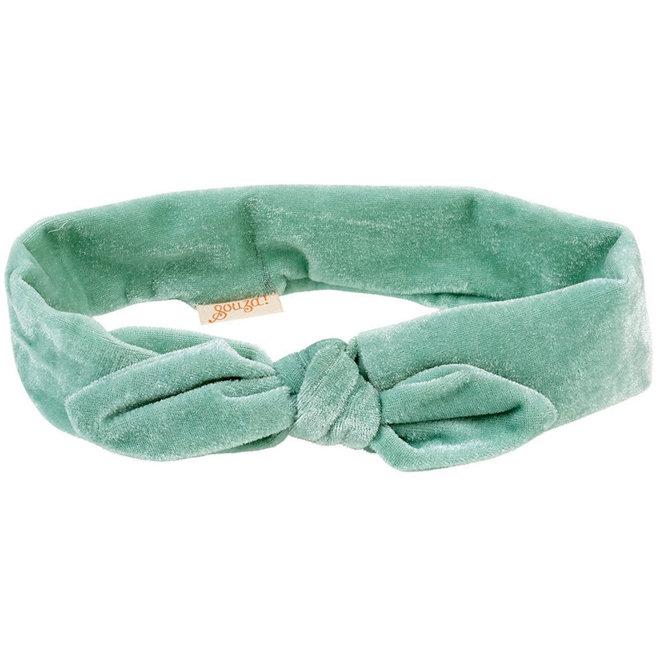 Haarband Titia fluweel mint