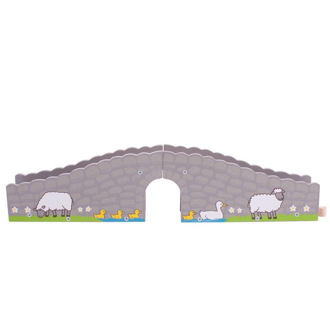 Boerderij brug uitbreiding