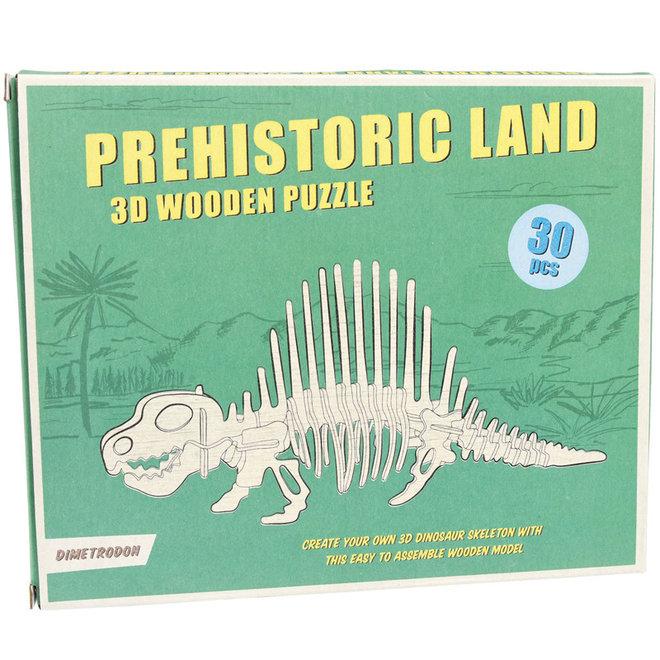 Houten 3D puzzel - Dinosaurus Dimetrodon