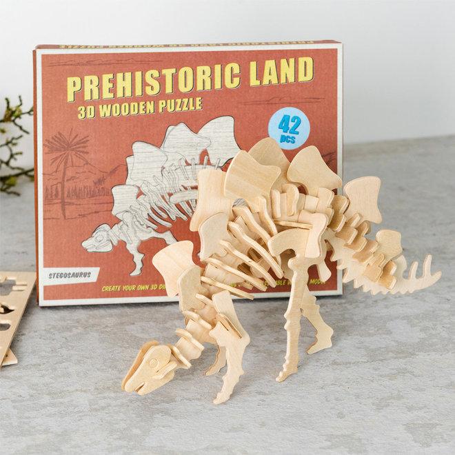 Houten 3D puzzel - Dinosaurus Stegosaurus