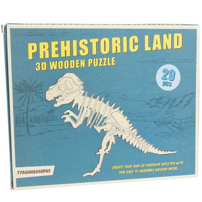 Houten 3D puzzel - Dinosaurus Tyrannosaurus