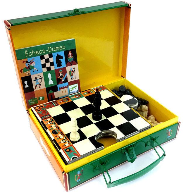 Schaak- en damspel in koffertje (6-99 jaar)