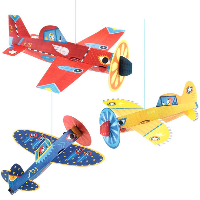 Decoratie hangende vliegtuigen
