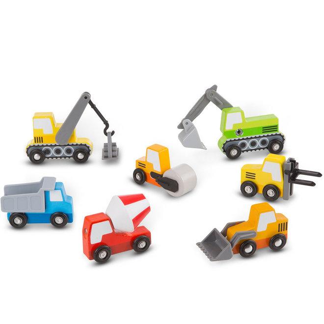 Houten bouwplaats auto's