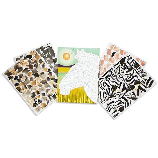 Mozaïek stickerboek safari 7+