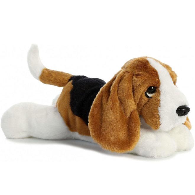 Knuffel hond Basset (30cm)