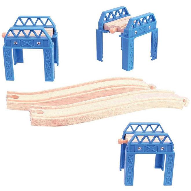 Treinbaan brug constructie set