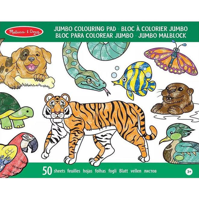 Jumbo kleurboek dieren A3