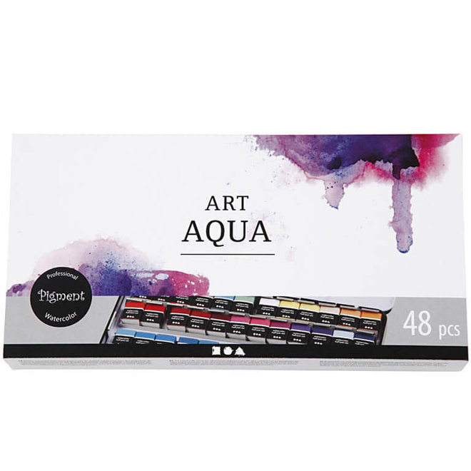 Aquarelverf in blik (48st)