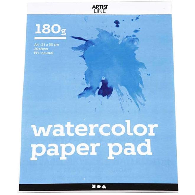 Aquarelpapier A4 (180 grams / 20 vellen)