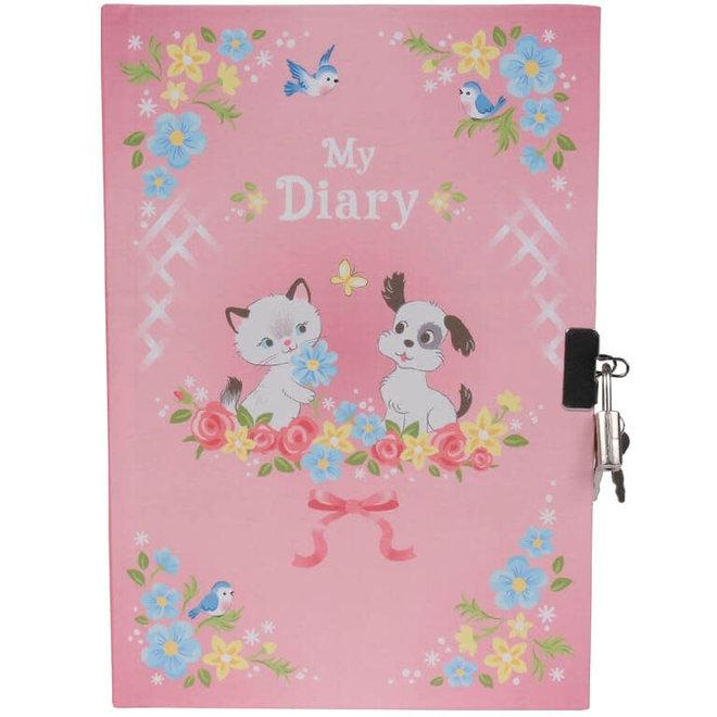 Dagboek met slot - Kitten & puppy
