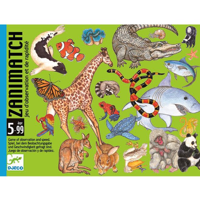 Kaartspel dierenmatch (5-99 jaar)