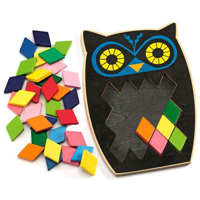 Mozaïek puzzel uil Moza Boo 3+