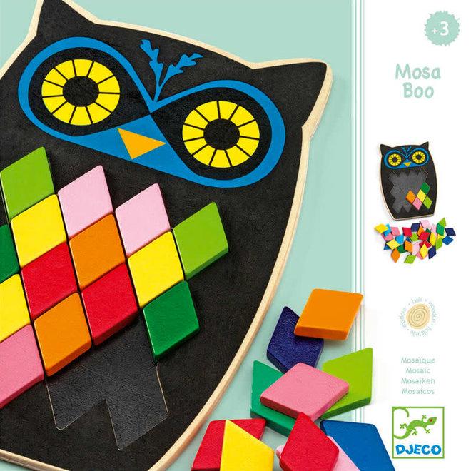 Djeco Mozaiek puzzel uil 'Moza Boo' 3+