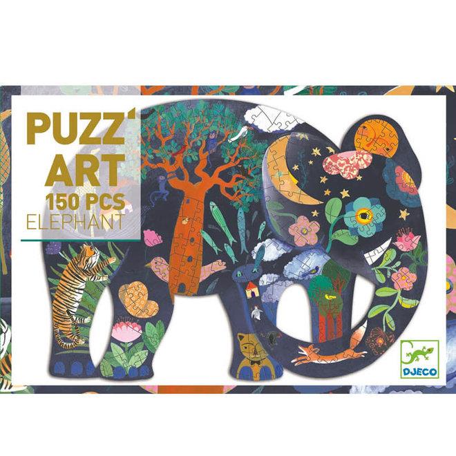 Djeco Puzzel 150 stukjes - Olifant