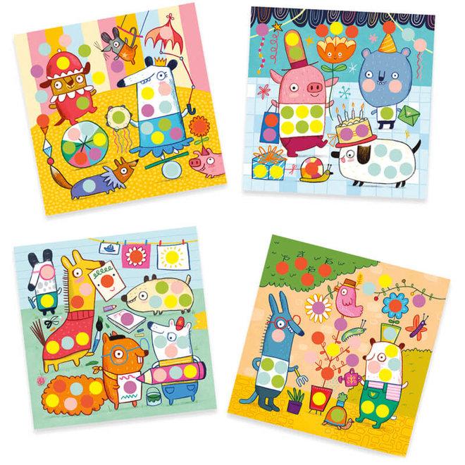 Djeco Creëer met Stickers - Stippen