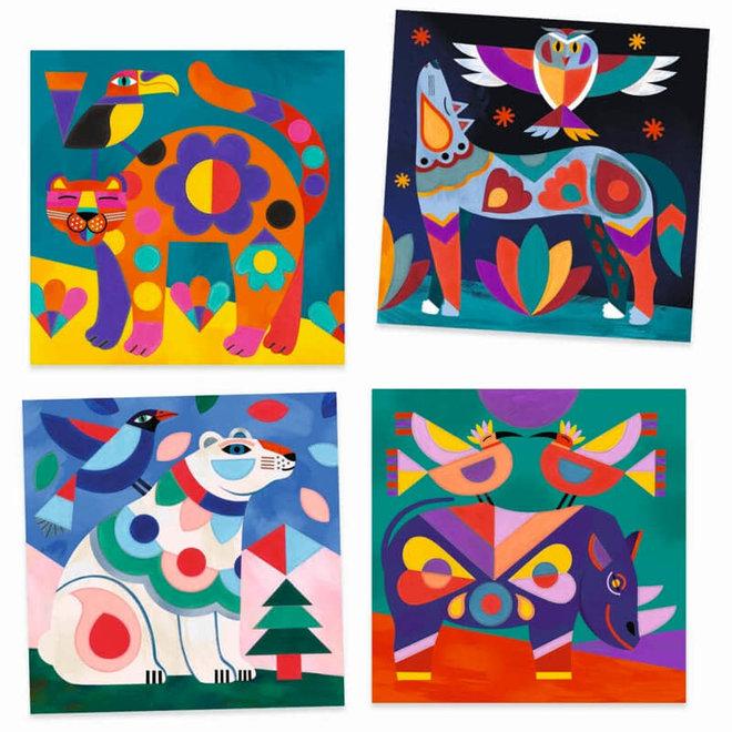 Schilderen op kleur dieren 6+