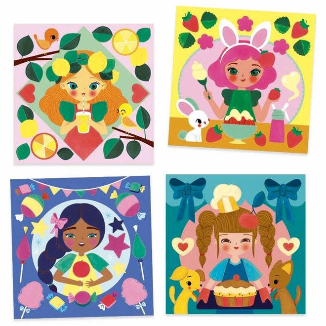 Djeco Schilderen op kleur 'Snacks'
