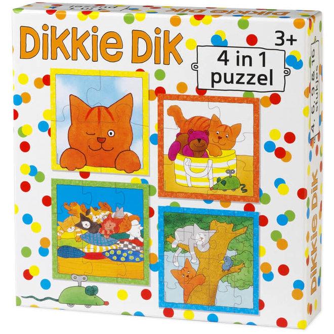 Dikkie Dik 4 in 1 puzzel 3+