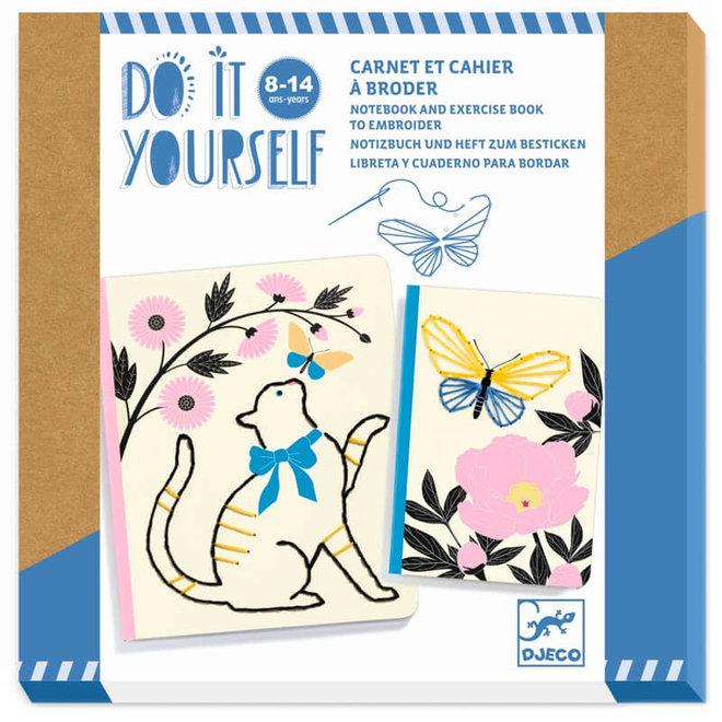 Djeco Do It Yourself - Notitieboekjes Borduren
