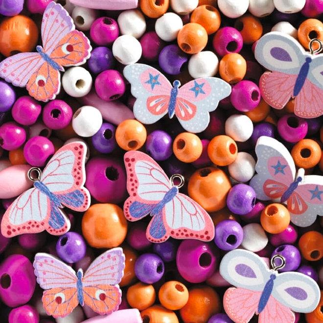 Djeco Houten Kralen Vlinders