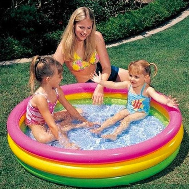 Zwembad regenboog 114cm