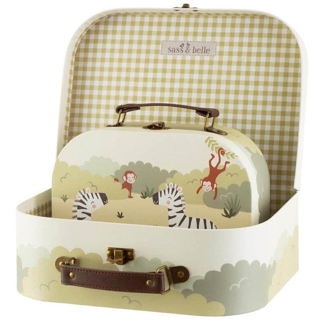 Kinderkoffertje safari (klein)