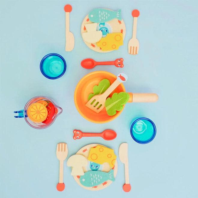 Kinderservies 'Aan tafel, katten!' 18m+
