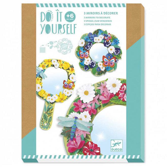 Djeco Do it yourself - Spiegels met bloemen