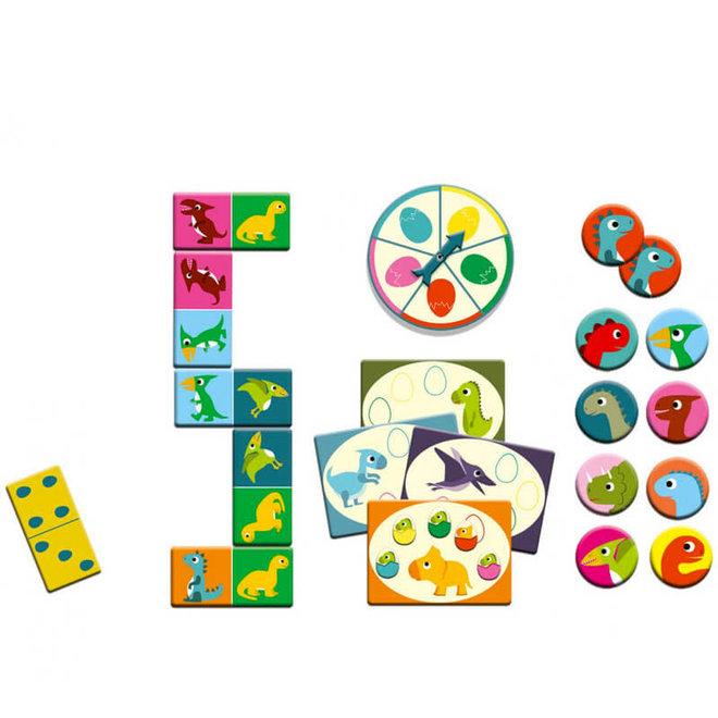 Djeco Bingo, Memo & Domino Dinosaurussen