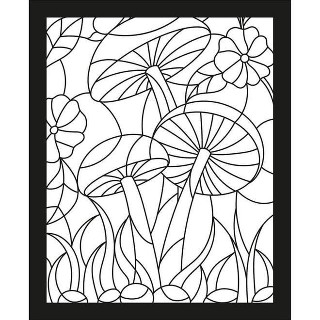 Glas-in-lood kleurboek natuur