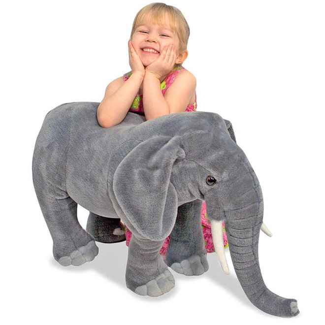 Grote knuffel olifant 68cm