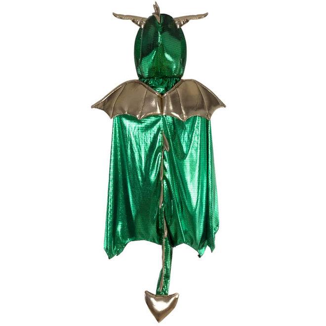 Draken cape groen (5-6 jaar)