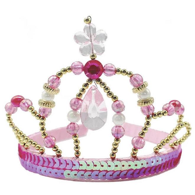 Kroon prinses roze/goud