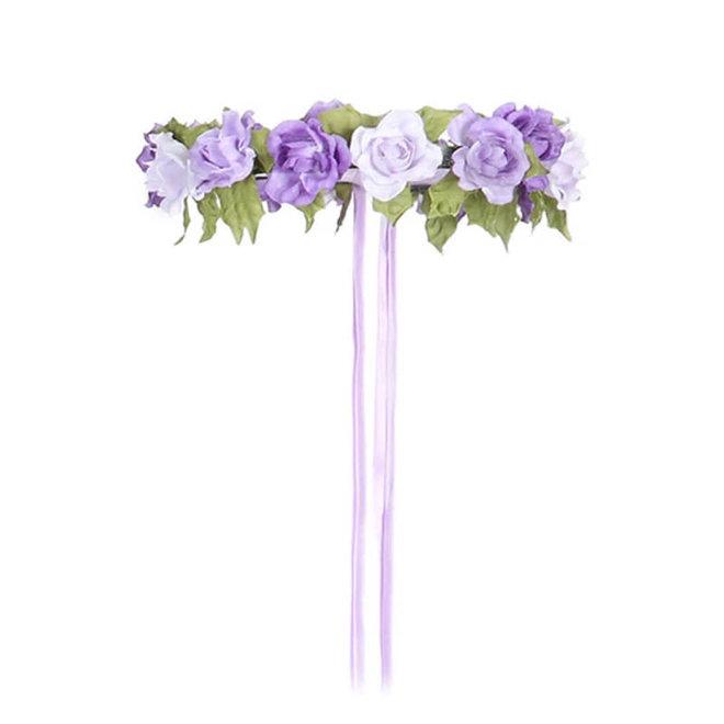 Bloemenkrans lila