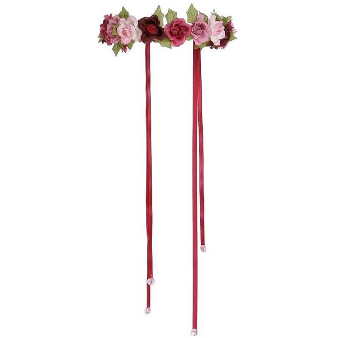 Bloemenkrans roze