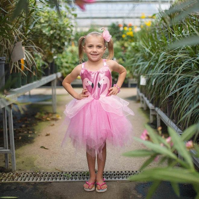 Jurk Fancy Flamingo (5-6 jaar)