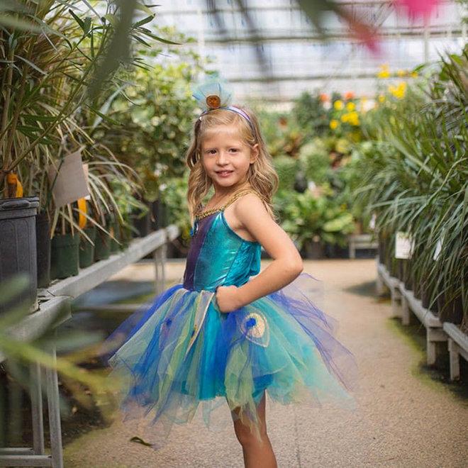 Jurk Pretty Pauw (5-6 jaar)
