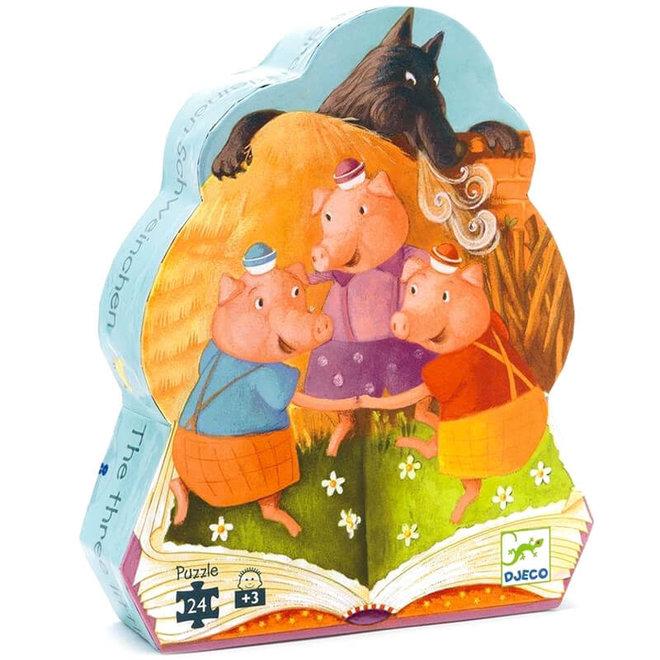 Djeco puzzel sprookje De Drie Biggetjes (24 stukjes)
