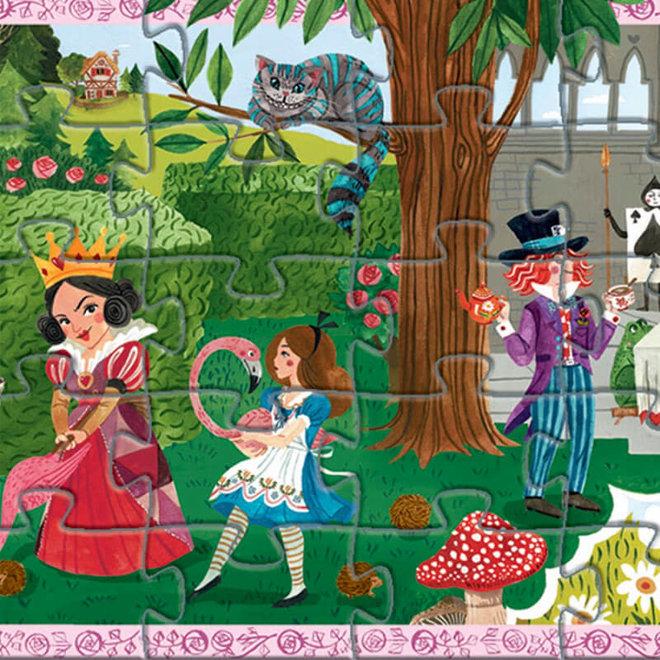 Djeco puzzel sprookje Alice in Wonderland (50 stukjes)