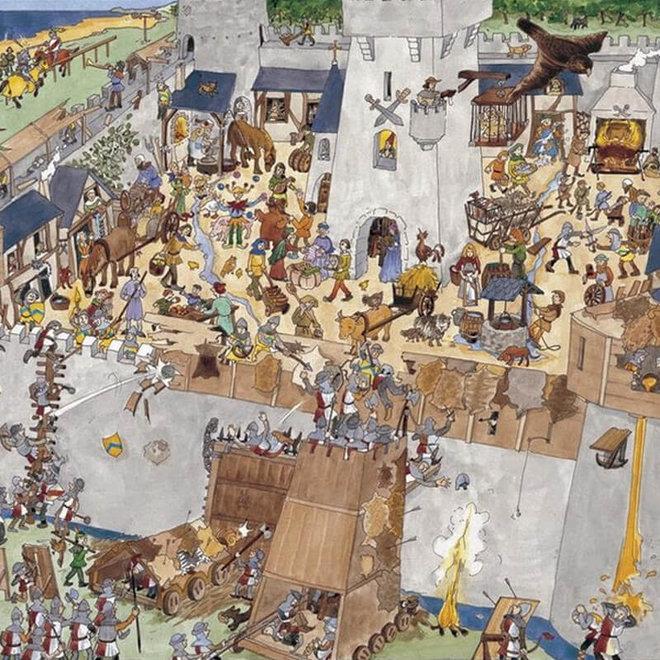 Djeco puzzel 100 stukjes - Ridder kasteel