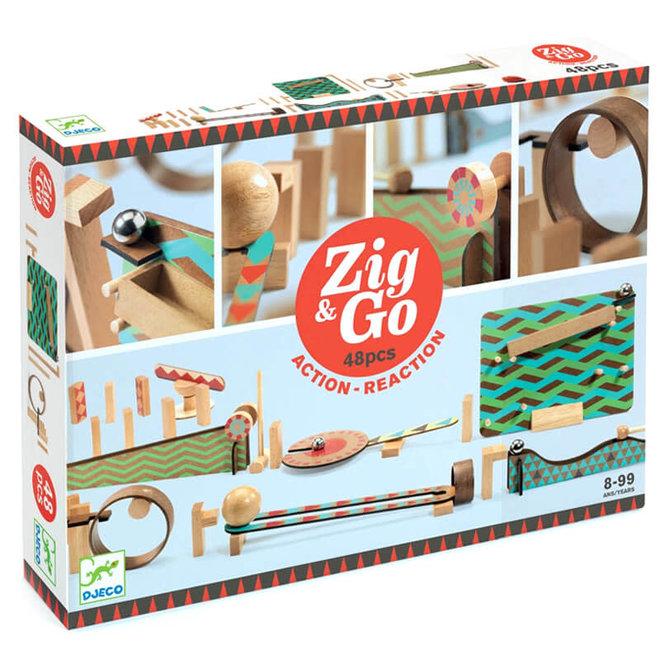 Djeco Zig & Go actie-reactie parcours (48-delig)