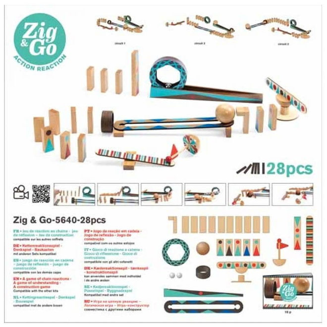 Djeco Zig & Go actie-reactie parcours (28-delig)