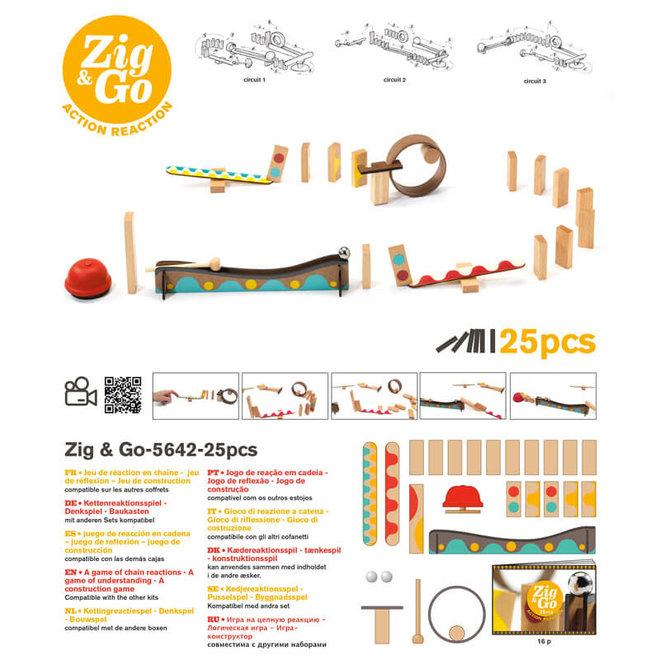 Djeco Zig & Go actie-reactie parcours (25-delig)