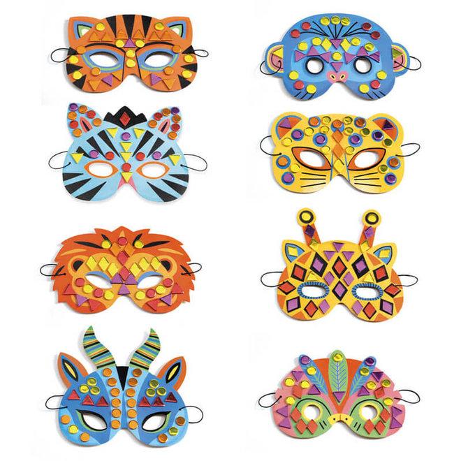 DIY knutselset dierenmaskers 4+