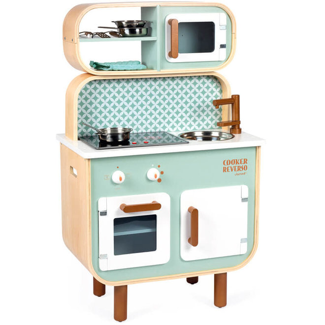 Retro keuken, wasmachine & klok